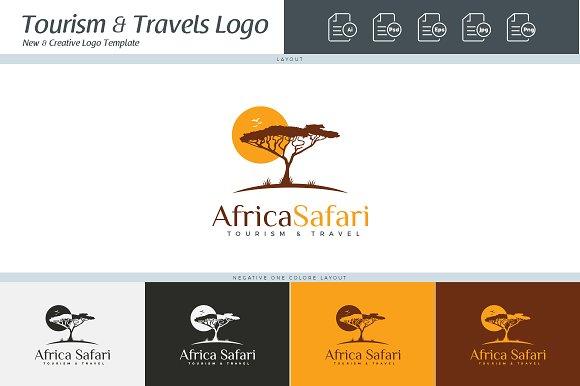 africa safari logo template logo templates creative market