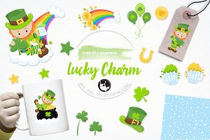 St-Patrick's illustration pack