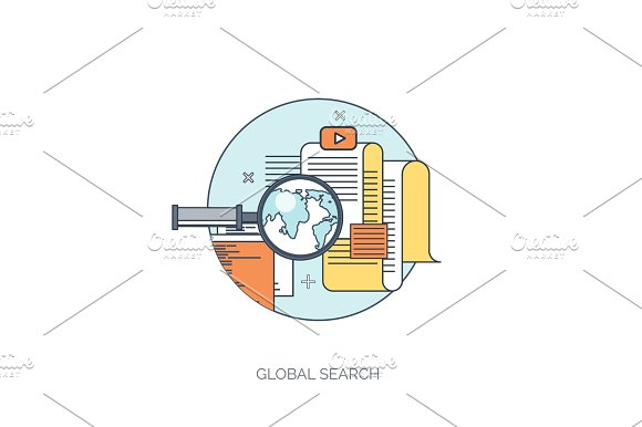 Vector illustration. Web search. Flat computing background. Programming ,coding. Development. Search engine optimization. Innovation ,technologies. Mobile app.