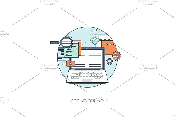 Flat avatar icons. Business concept, global communication. Web site user profile.  Social media, network elements. in Illustrations