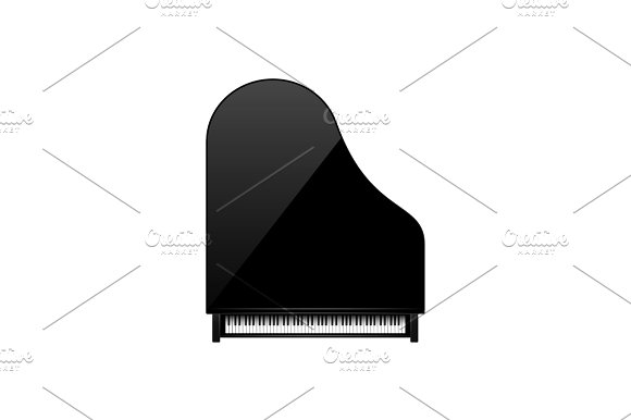 Vector Illustration Musical Background Piano Key Keyboard Melody Instrument