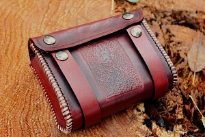 Handmade Leather Belt Bag