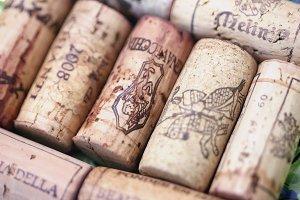 Wine corks, Italian Chianti