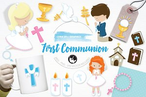 First communion illustration pack