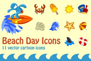 Beach Day Icons