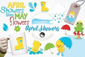 April showers illustration pack