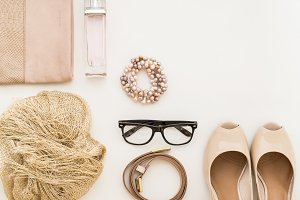 Blush and gold fashion top view 5/6