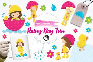 Rainy day fun illustration pack