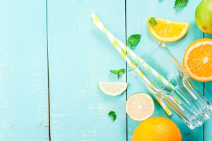 Ingredients for citrus drink