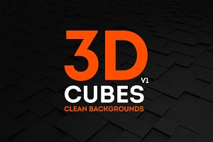 20 3D Cubes Clean Backgrounds |B/W|
