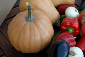 Pumpkin and vegetables