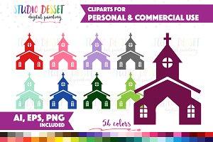 Church Vector Graphics