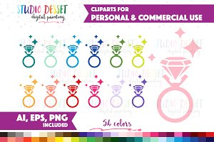 Diamond Ring Vector Graphics