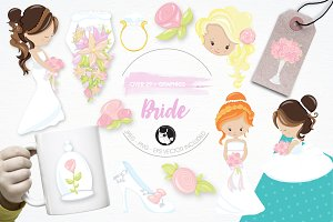Wedding bride illustration pack