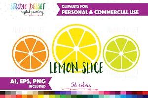Lemon Slice Planner Cliparts