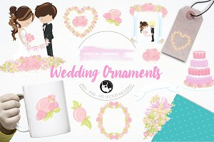 Wedding ornaments illustration pack