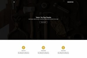 """Station"" One Page PSD Template"