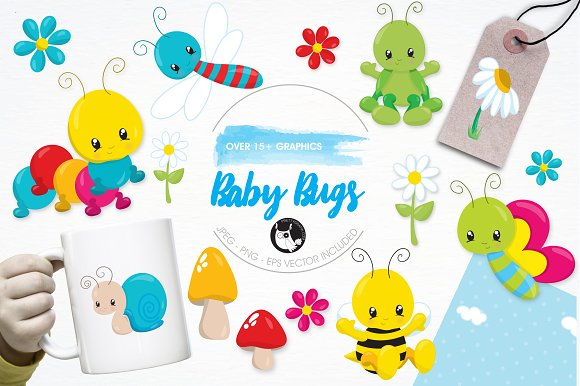 Baby Bugs Illustration Pack