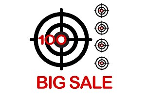 Big sale target illustration
