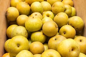 Box of Asian pears