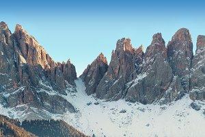 Winter panorama of Italian Alps