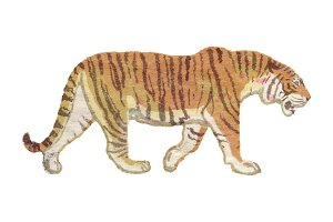 Hi-Res Vector Vintage Tiger
