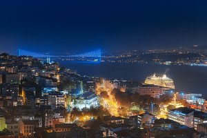 Bosphorus Bridge evening Web