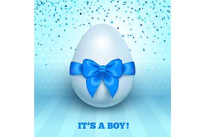 It's a boy baby shower concept