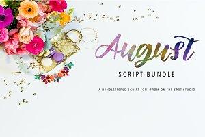 August Script Font Bundle