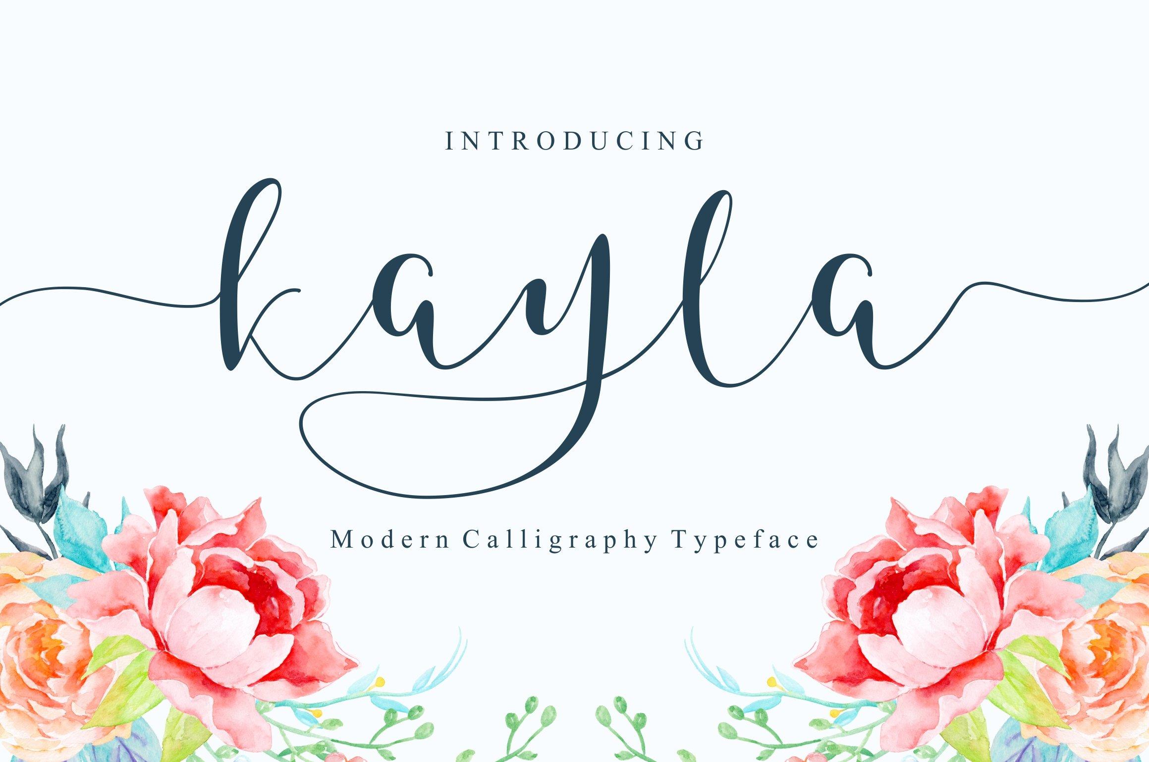Kayla script script fonts creative market kristyandbryce Choice Image