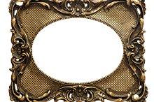 Golden picture frame Vintage object