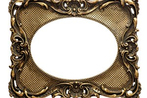 Golden picture frame Vintage object