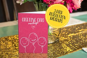 Greeting Card Mockups Volume 1