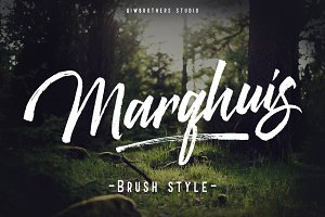 Marqhuis brush font