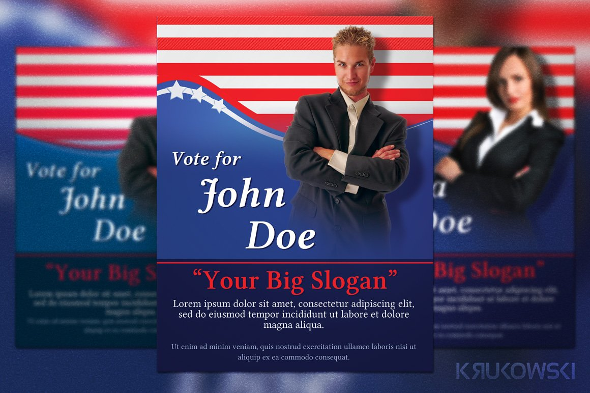 political election flyer flyer templates creative market