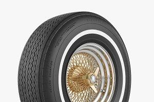 Wire Wheel & Tire Firestone