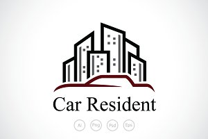 Car Resident Logo Template