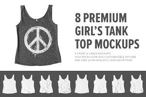 8 Premium Girl's Tank Top Mockups