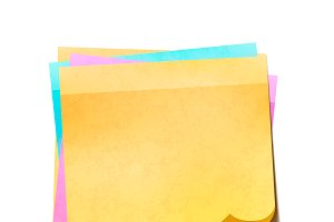 Colorful sticky notes in pile