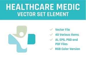 Healthcare Medic Vector Set Element