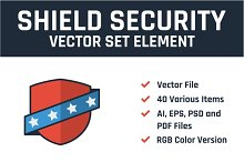 Shield Security Vector Set Element