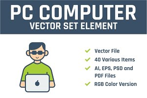 PC Computer Vector Set Element