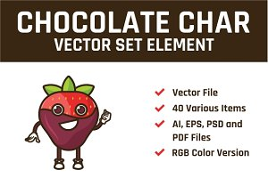 Chocolate Char Vector Set Element