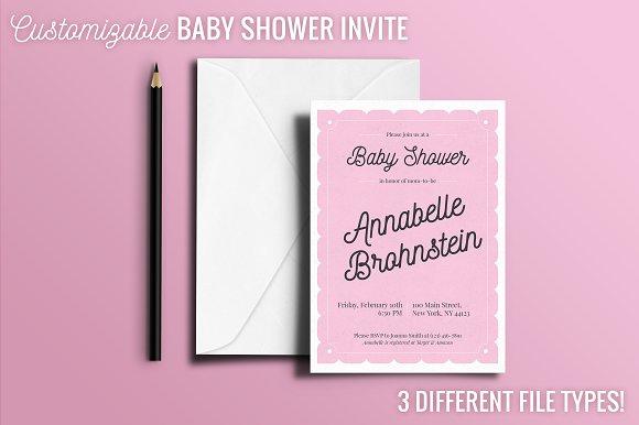 Baby Shower Invite Girl
