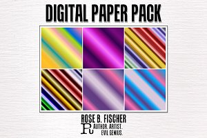 Digital Paper Pack-Diagonal Gradient