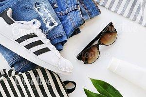 fashion blogger concept.