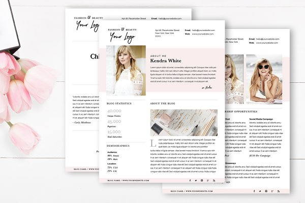 Media Kit Template | 4 Page
