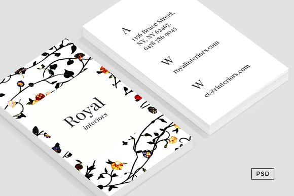 Elysian Business Card Template Cards