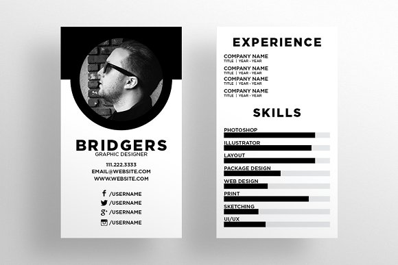 Resume Business Cards | The Resume Business Card Template Business Card Templates