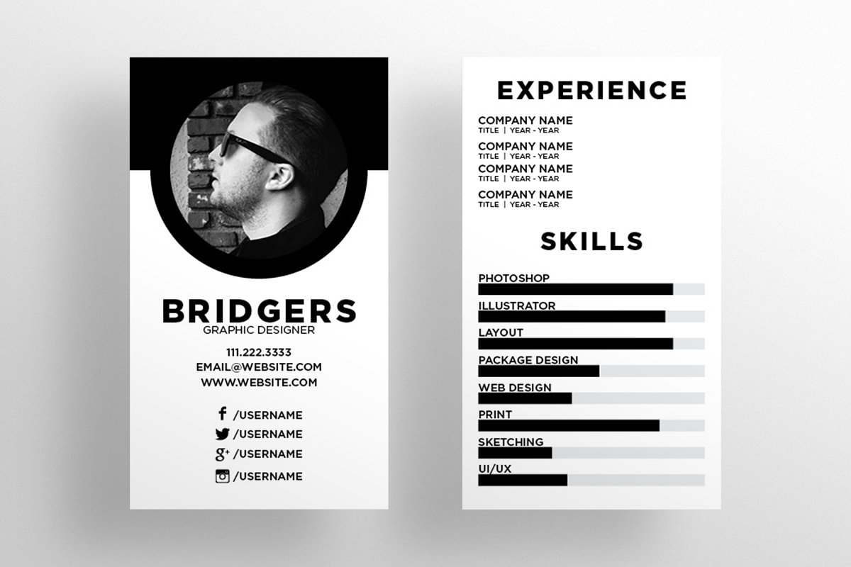 The Resume Business Card Template Business Card